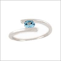 Single Stone Silver Ring