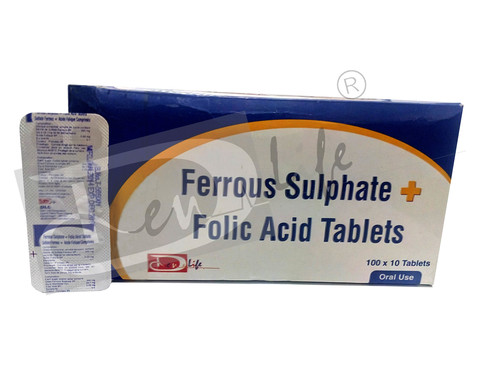 Ferrous Sulphate And Folic Acid Tablet