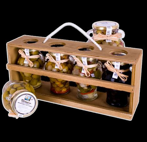 Gourmet Wooden Boxes Olives