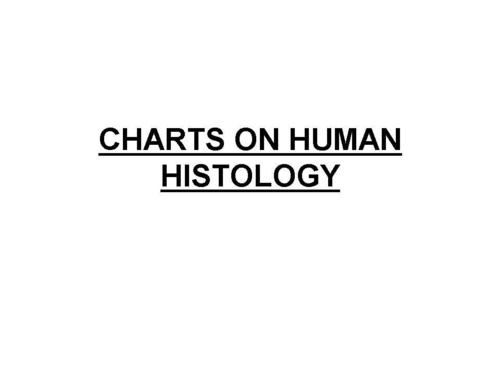 CHARTS ON HUMAN HISTOLOGY