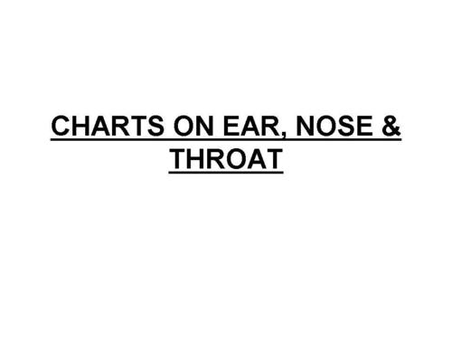 CHARTS ON EAR, NOSE & THROAT