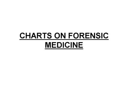 CHARTS ON FORENSIC MEDICINE
