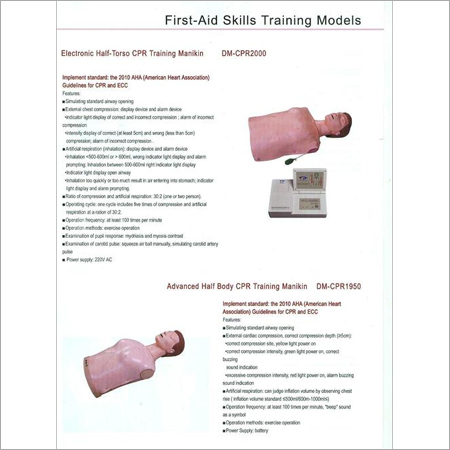 FIRST AID SKILLS TRAINING MODELS 6