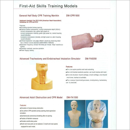 FIRST AID SKILLS TRAINING MODELS 7