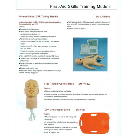 FIRST AID SKILLS TRAINING MODELS 10