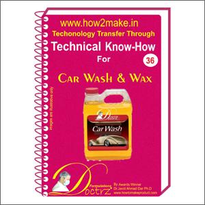 Car Wash & Wax Formulations Ebook