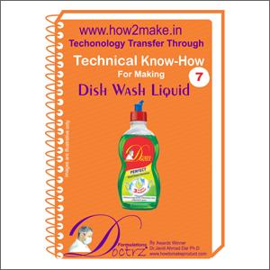 Formula Document For Making Dish Wash Liquid