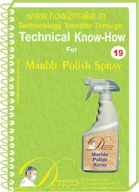 Formulations e-Book on Marble Polish Spray