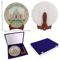 Taj Mahal on marble plate hand painted