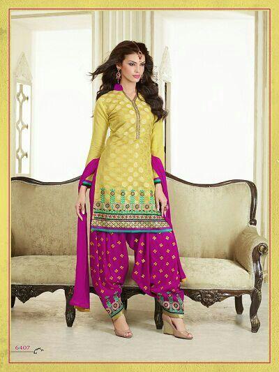 Stylish Embroidery Worked Salwar Kameez