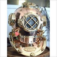 Nautical brass and copper Home Decor diving helmet