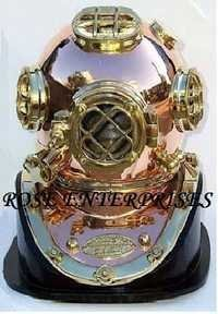 Nautical Mark V Diving Helmet With Wooden Base