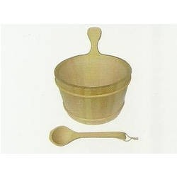 Wooden Bucket And Ladle