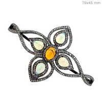 Opal Diamond Silver Bracelet