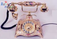 Stylish Antique Brass Telephone