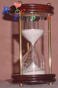 Brass Sand Timer Wooden Base