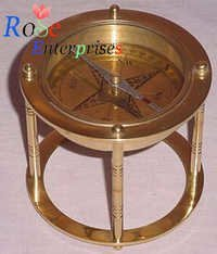 Brass Compass with Stand