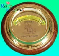 Brass Clinometer Compass with Wooden Base