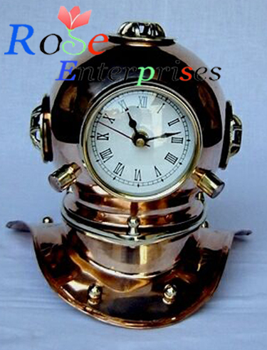 Antique Finish Diving Helmet Clock