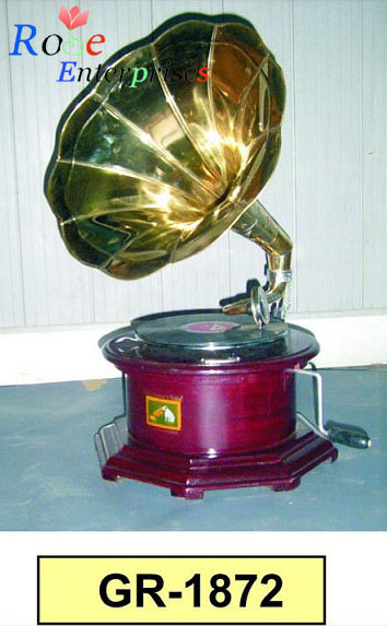 Antique Brass Gramophone