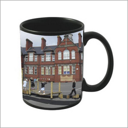 Sublimation Printed Black Mugs