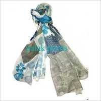 Cotton Voil Scarves Block Print