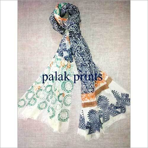 Cotton Block Printed Gauze