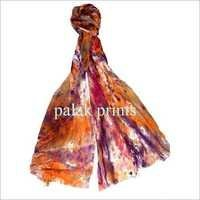 Cotton Voil Scarves Hand Print