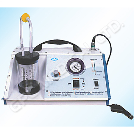 Universal VAC AC DC Battery Operated Suction Unit