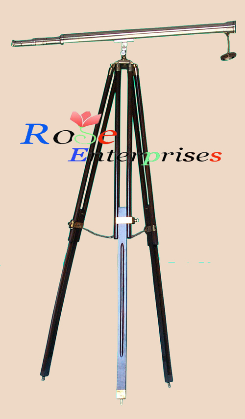 Nautical Brass Telescope with Tripod Stand