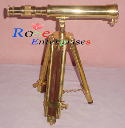 Antique Telescope with Tripod