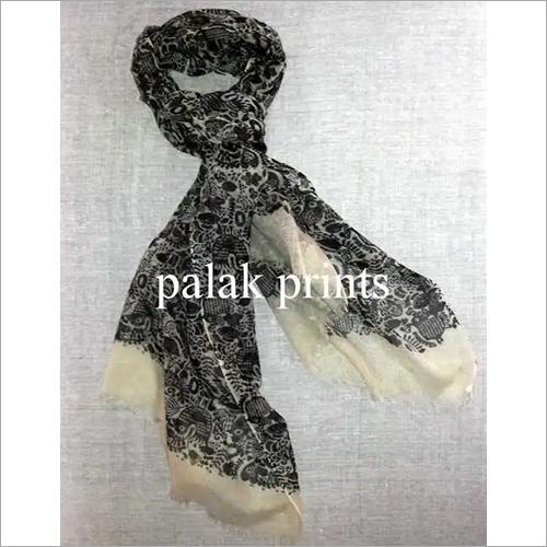 Wool Cashmere Block Print Scarfs