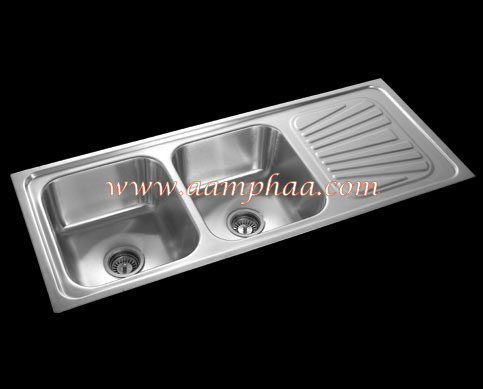 Double Bowl With Single Drainboard