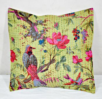 Indian Cotton Kantha Pillow