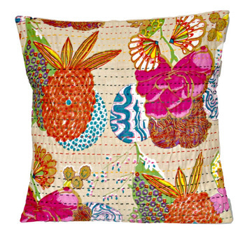 Indian Vintage Kantha Pillow