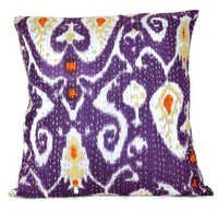 Purple Kantha Pillow