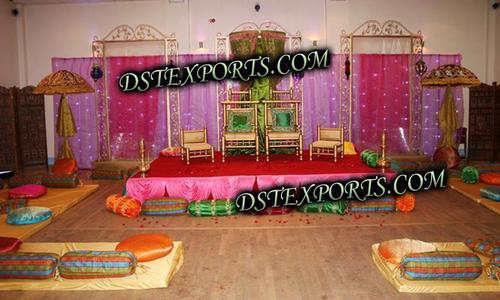 WEDDING DECORATED MEHANDI STAGE