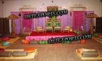 WEDDING DECORATED MEHANDI STAGE