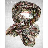 Wool Brush Printed Scarves