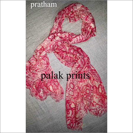 Silk Wool Hand Printed Scarves