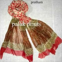 Wool Block Printed Stoles