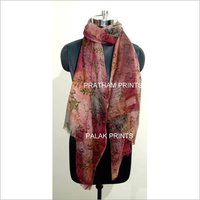 Wool Block Printed Ladies Stoles