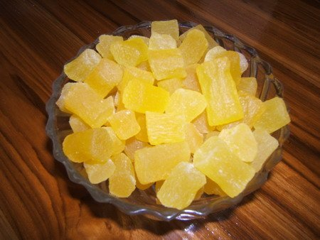 Dehydrated Pineapple Core Chunk