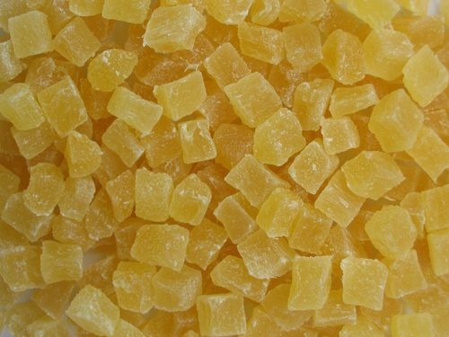 Dehydrated Pineapple Core Dices