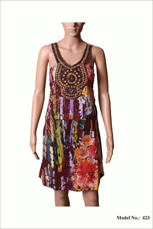 Women Chiffon Mini Dress