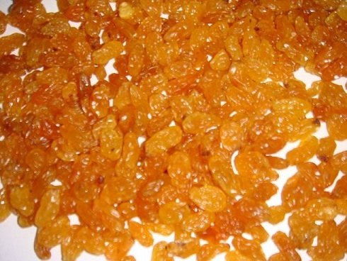 Raisins Golden Average Sulphur Base