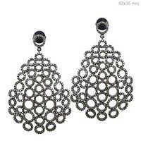 Diamond Silver Earrings Jewelry