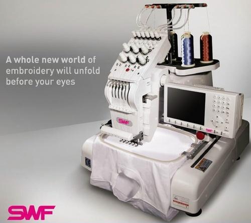SINGLE HEAD AUTOMATIC EMBROIDERY MACHINE