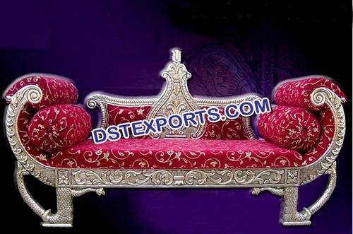 Silver Designer King Sofa