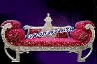 Silver Designer King Sofa